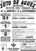 Cartel de las Fiestas de Soto de Agues en 2007