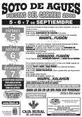 Cartel de las Fiestas de Soto de Agues en 2008