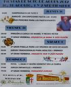 Cartel de las Fiestas de Soto de Agues en 2012